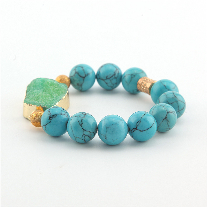 2015 New Arrival Jewelry (10 pieces) Beaded Natural Blue Zircon Stone Beads Hamsa Yoga Bracelets Best Gift for men and women<br><br>Aliexpress