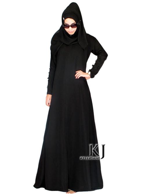 kj2015 abaya jurk moslim islamitische kleding voor vrouwen vrouwen jurk dubai arabische gewaad turkse traditionele kleding plus size zwart(China (Mainland))