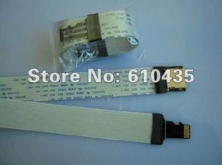 Free shipping micro sd card extension cable TF to TF cable for car GPS and DVD