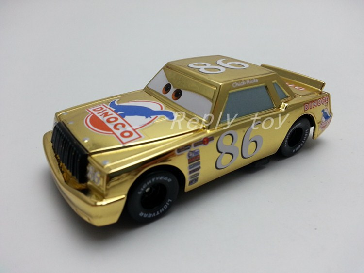 Pixar Cars Metallic Finish Gold Chrome No.86 Chick Hicks Metal Diecast Toy Car 1:55 Loose Brand New In Stock & Free Shipping(China (Mainland))