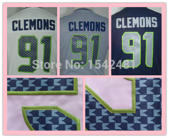 2015 Chris Clemons jersey women,grey elite ladies seattle woman American Football jerseys authentic Stitched S-XXL China(China (Mainland))