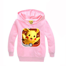 Hot 2016 boys hoodies Pokemon sweatshirt girls children hoodies kids clothes coats spring autumn long sleeves clothes MS1686