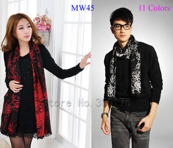 Fashion Viscose Cotton  Man And Woman Scarf  Winter Long Warm Muffler Paisley Flower  Wrap  MW45 11 Colors  Free Shipping
