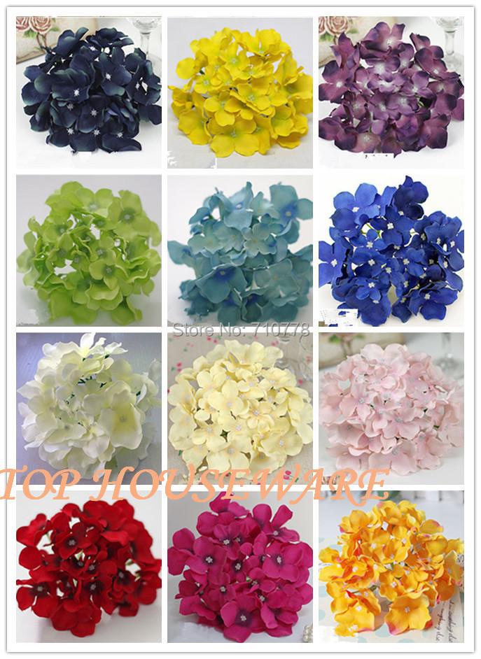 21colors 15cm 6 Artificial Hydrangea Flower Head For Diy