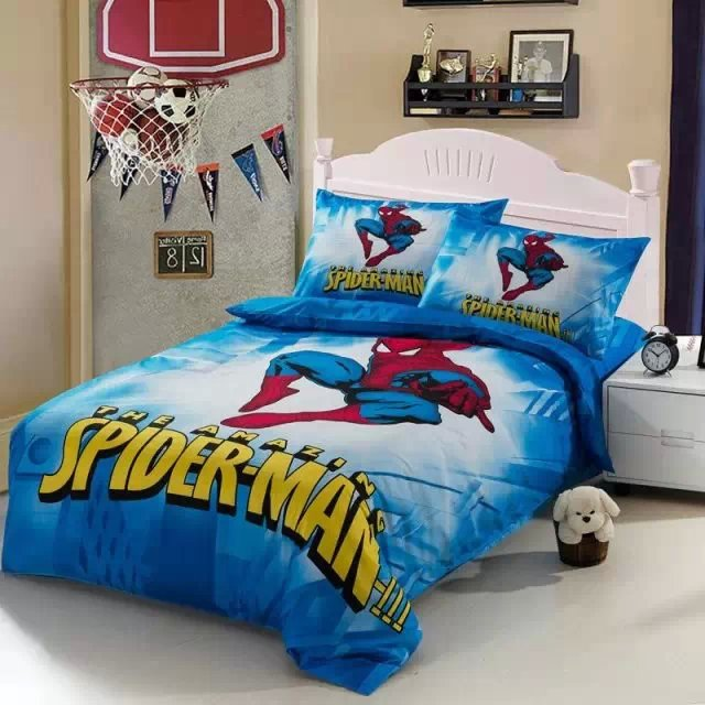 Cartoons Bedroom Sets For Teenagers : 100% cotton 3pcs Single Bedding Sets for Kids Hot Cartoon Bedding Red ...