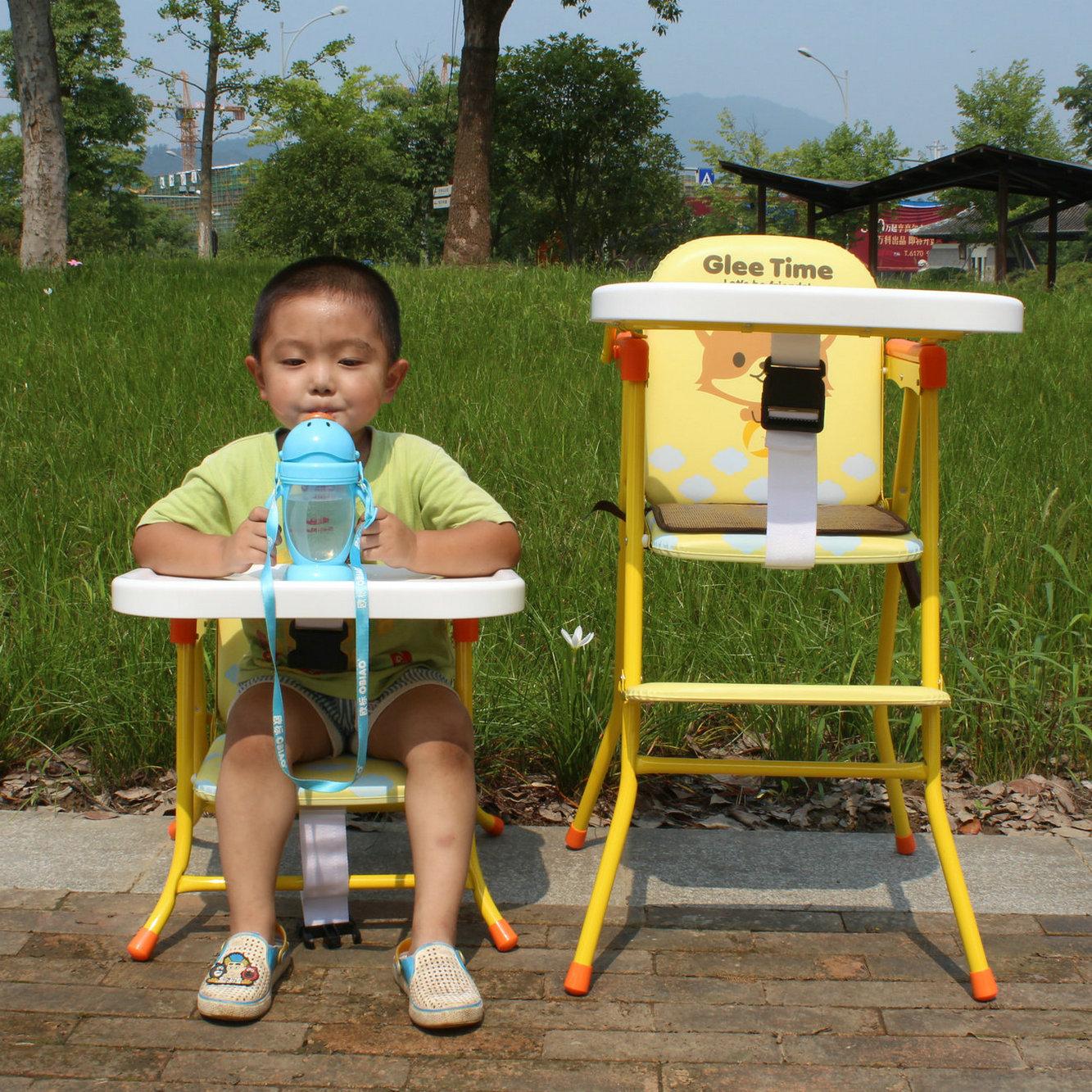 Multi-Function Children Dinning Chair, Folding Baby High Chair, Portable Baby Feeding Chair