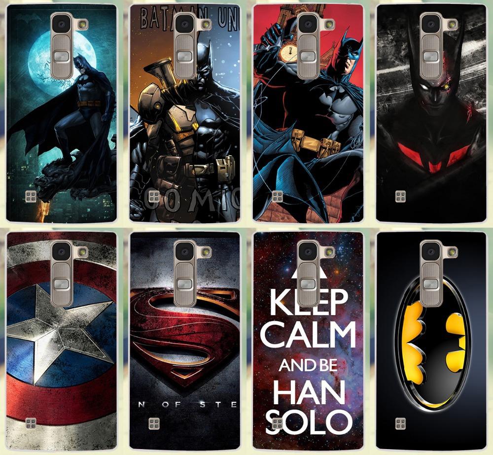 Hot Sale Captain America Keep Calm Batman Design Patterns Hard Black Cover Case For LG Spirit 4G LTE H440Y H420 H422 H440N Shell(China (Mainland))