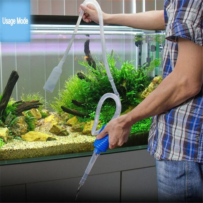 103cm aquarium manual cleaner tool siphon gravel suction for How often do you clean a fish tank