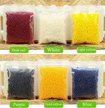 3600 pcs/lot 12 colors 12 Packets/set Crystal Ball Sea Baby Crystal Mud Soil Water Beads Bio Gel Ball For Flower/Weeding/Decor(China (Mainland))