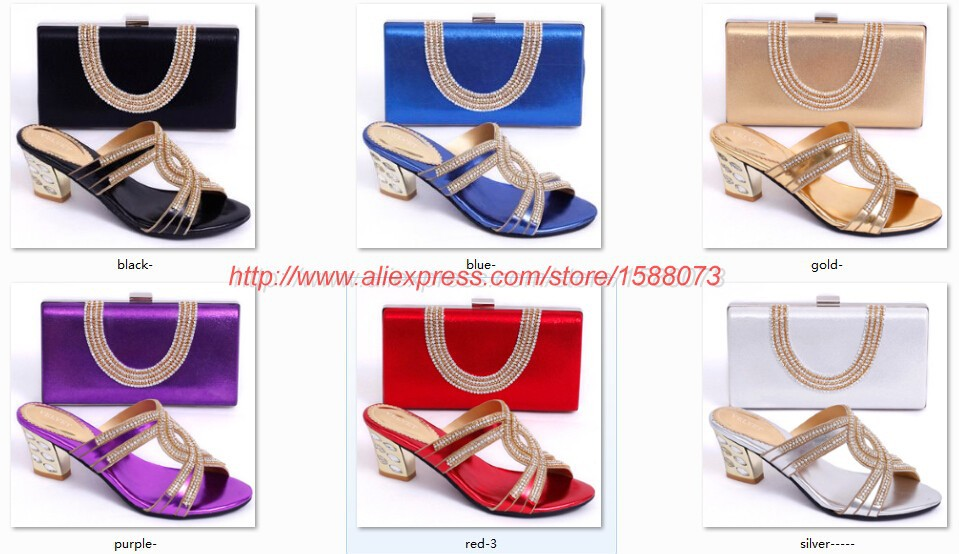 Fashion shoes matching bags african wedding/party SB032 s fashion newest italian design - LACE JOURNEY store