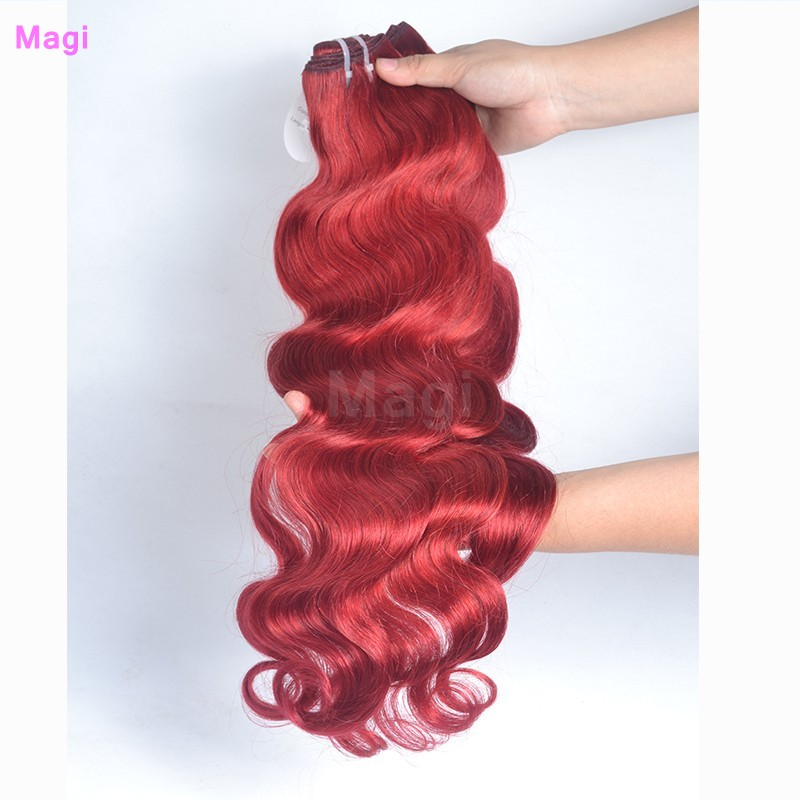 Grade 6A Wine Red Peruvian Remy Human Hair Extensions 3Pcs Lot Tangle Free Peruvian Body Wave Virgin Hair Weave Bundles <br><br>Aliexpress