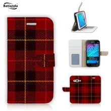 Tartan Design For Samsung Galaxy Core Prime G360 G360H / Galaxy Grand Prime G530 Flip PU Leather Flip Stand Wallet Case Cover