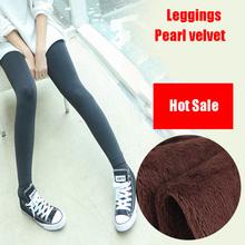 2016 Limited Leggins Trend Knitting Winter Pearl Velvet Pants Leggings Nine Pant Legging Women Warm Slim Fitness Super Elastic(China (Mainland))