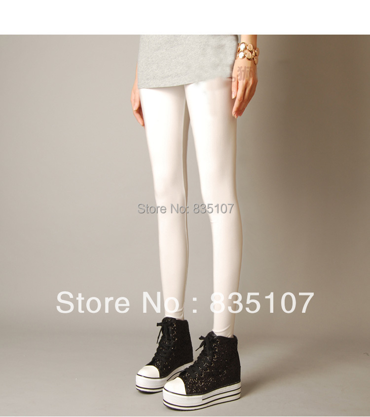 Shiny White Leggings White Shiny Leggings For