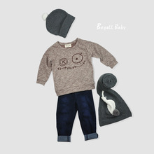 2016 New Fashion Baby Boy Clothes Cartoon Casual Kids Infant Girl Children Clothing Cotton Long Sleeve T Shirt Spring Autumn