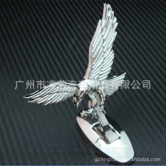 Silver Eagle chrome Badge logo car metal silver hawk emblem standard,car hood personalized 3d stickers styling parking(China (Mainland))