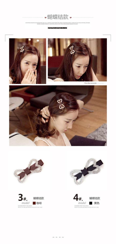 Clear Crystal Rhinestone Star Shape Hair Clip Bang Clip Headdress Hairpin Clamp Gift(China (Mainland))