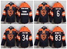 Chicago Bears Jay Cutler Brandon Marshall Gale Sayers Dick Butkus Brian Urlacher customizable Sweater hoodies any name number(China (Mainland))