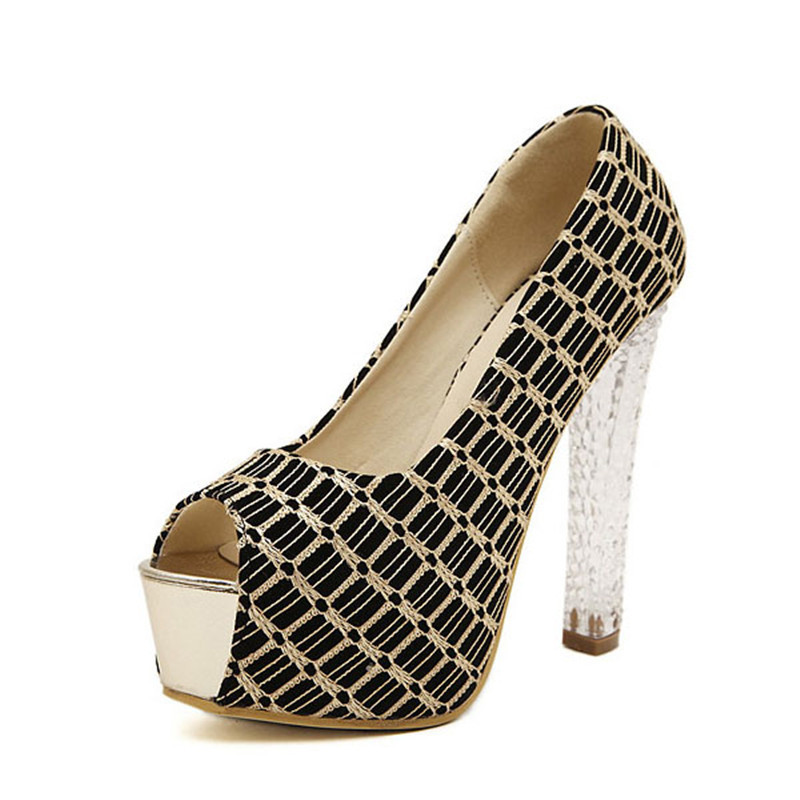 Women Shoes High Heel 2015 Summer Crystal Wedges Shoes For Women Sexy High Heels Chaussure Talon Compensees Femme(China (Mainland))