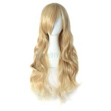 High Temperature Fiber Charming Blonde Long Wavy Costume Wig Hair (NBW0WG60014-BD2)(China (Mainland))