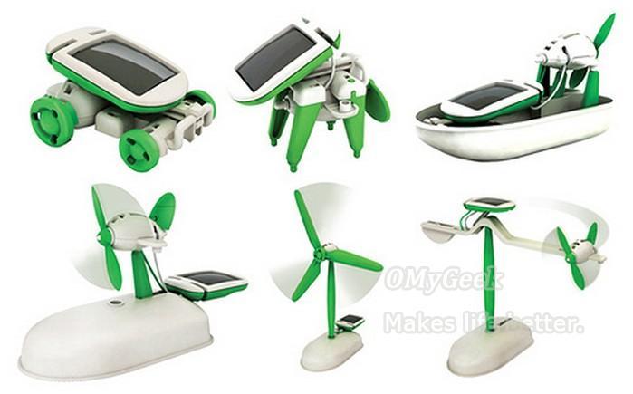 educational solar kit toy 10sets novelty 6 in 1 boat fan car robot power