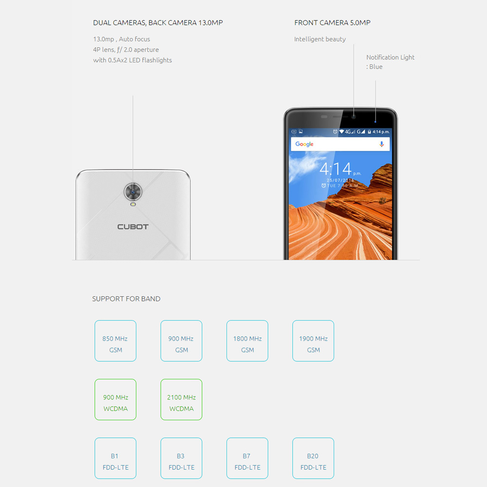 In Stock Cubot Max 4G 6.0″ HD 4100mAh OTG Smartphone Android 6.0 Octa Core MTK6753A 1.3GHz Cellphone 3GB+32GB 13MP Mobile Phone
