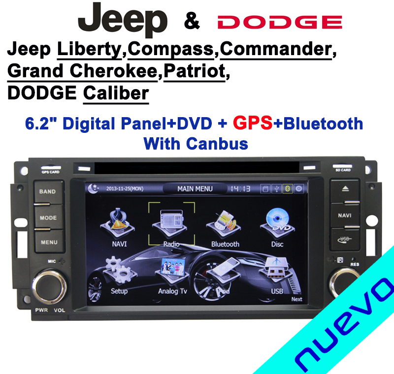 6.2 inch Car DVD GPS navigation Canbus for Liberty,Compass,Grand Cherokee,Commander,Patriot and Dodge Caliber(China (Mainland))