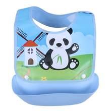 Baberos de bebé desmontable niños dibujos animados impermeable alimentación delantal Saliva toalla babero Smock Burp paños accesorios de bebé(China)