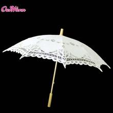 Multicolor Handmade Embroidered Cotton Lace Parasol Sun Umbrella Wedding Bridal Party Decoration Supplies(China (Mainland))