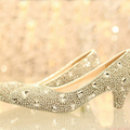 Luxury Lady Formal Dress Shoes Girl Wedding Dress Shoes Bridal Shoes Middle Heel 5cm Evening Anniversary