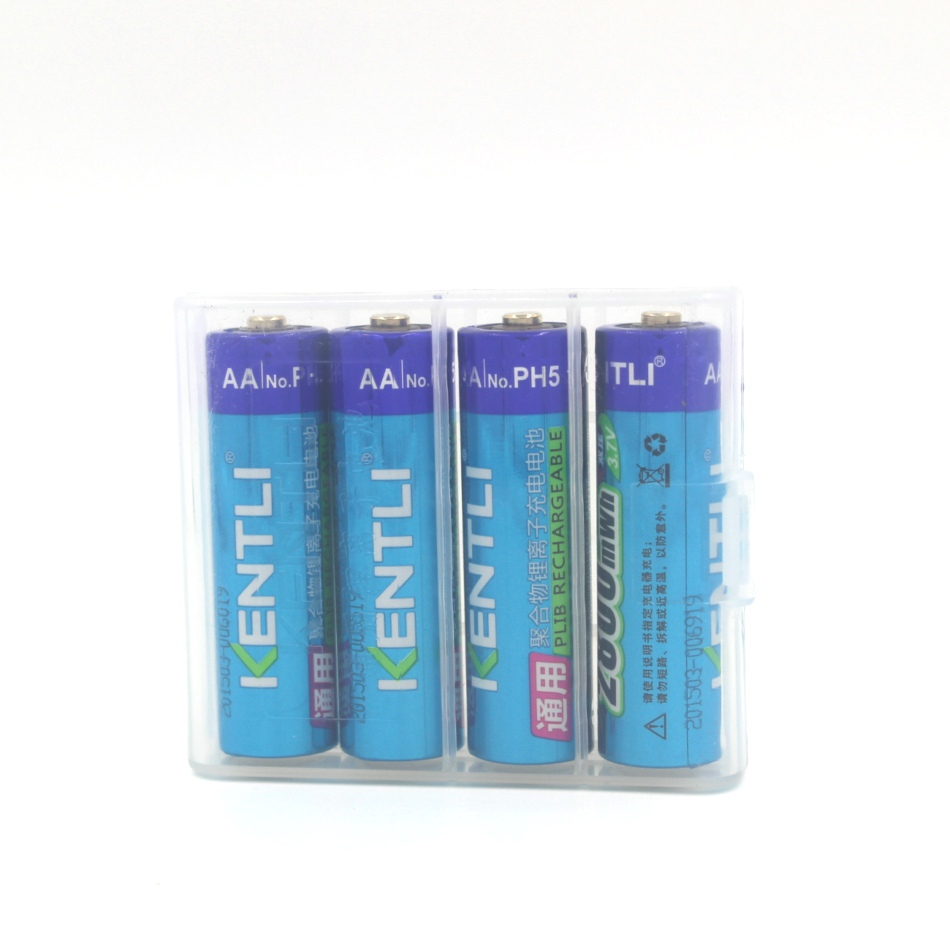 8pcs KENTLI 1 5v 2800mWh Li polymer li ion polymer lithium rechargeable AA battery batterie 4