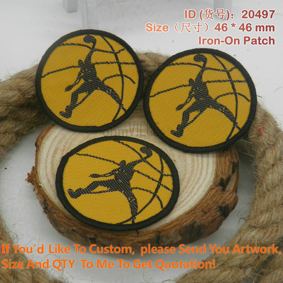 """20497 NBA Basketball Iron On Patches of Embroidery """"Accept customized Embroidery Patch"""" patches for clothing(China (Mainland))"""