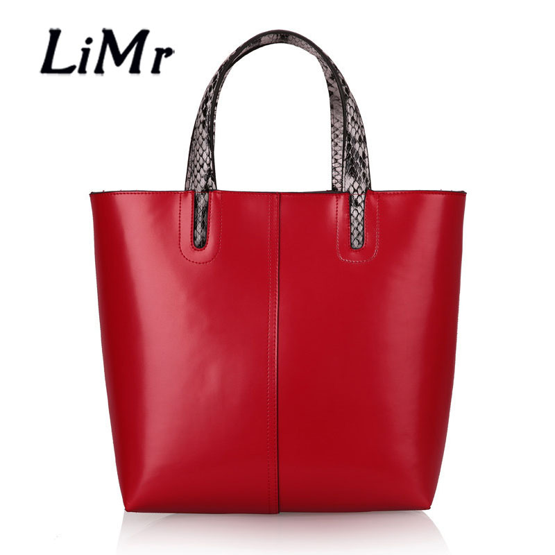 LiMr Boutique Bags Fashion Genuine Leather Women Shoulder Bag Solid European and American Style Large Capacity Leather Handbag H<br><br>Aliexpress