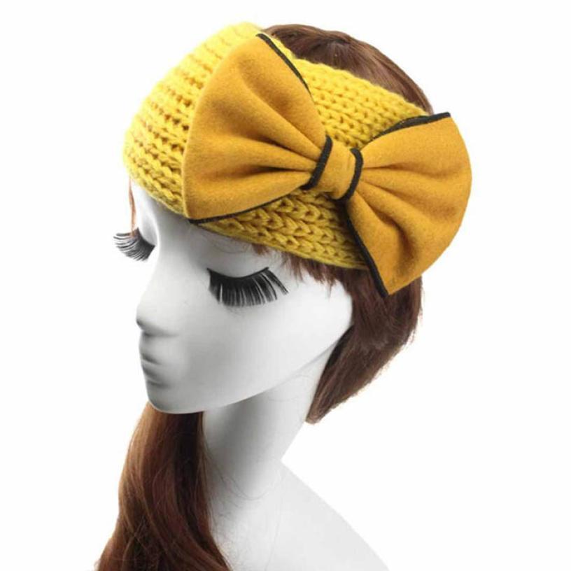 NEW Fashion Women Crochet Bow Headband Knit hairband Winter Ear Warmer Headwrap(China (Mainland))