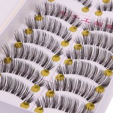 10 Pairs Soft Makeup Handmade Natural Fashion False Eyelashes Eye Lashes 32 # 50923