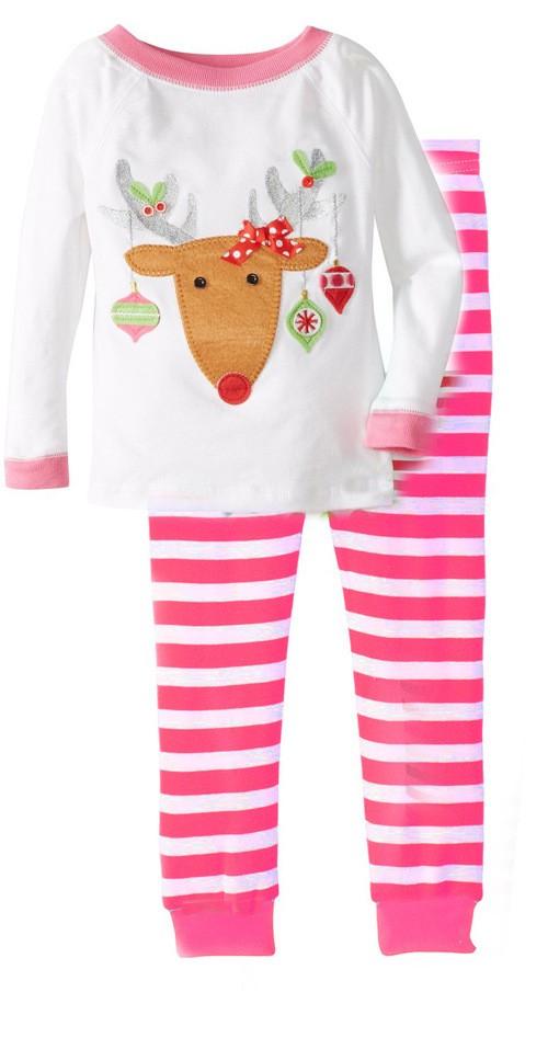 2PCS/0-5Years/Christmas Style Kids Tracksuit Cartoon Cute T-shirt+Pants Toddler Girls Boys Clothes Children Clothing Sets BC1345  HTB1fnyKKpXXXXadaXXXq6xXFXXXQ