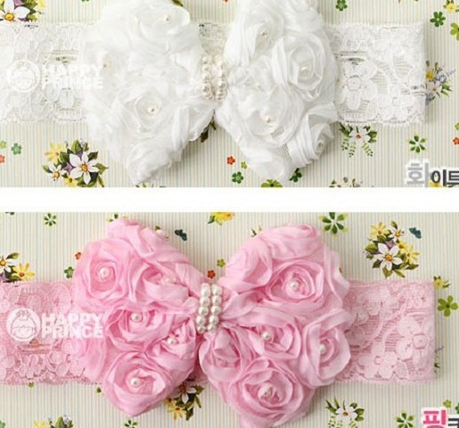 Min order 5 USD Hot sell children hair ornament headband baby hair accessories girl headbands Pink and White hairbands(China (Mainland))
