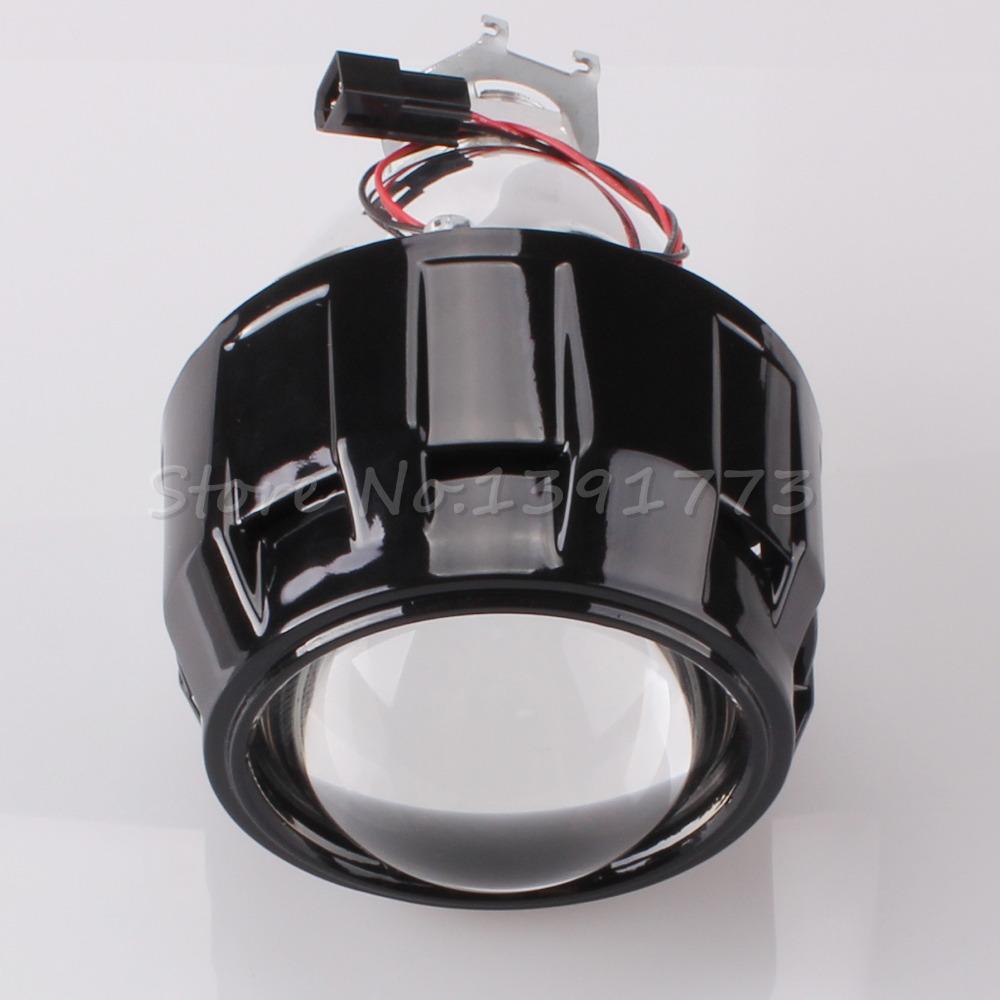 "1pcs 2.5"" Mini Bi-Xenon HID Projector Kit Lens Car Hi/Lo Headlights Shroud H1 H4 H7 HB3 HB4 Free Shipping(China (Mainland))"