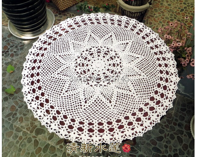 Christmas decorations Handmade Crochet Flowers Cotton Tablecloth Round Table cloth Garden Pineapple flower Lampshade Placemats(China (Mainland))