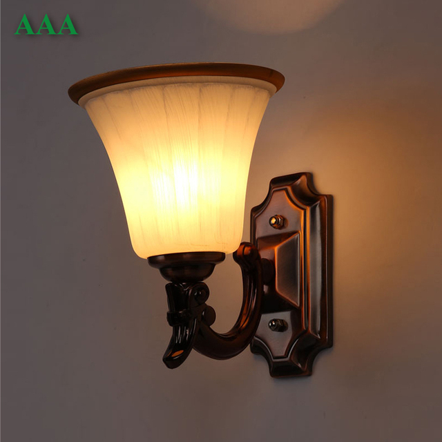 Wall Lights Europe : European Wall Lamp Frosted Glass Bowl Light LED E27 Modern Home Decoration Living Room Wall ...
