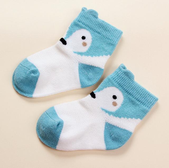 2016 мультфильм милые дети носок печать животных хлопка ребенок носок лиса носки ...