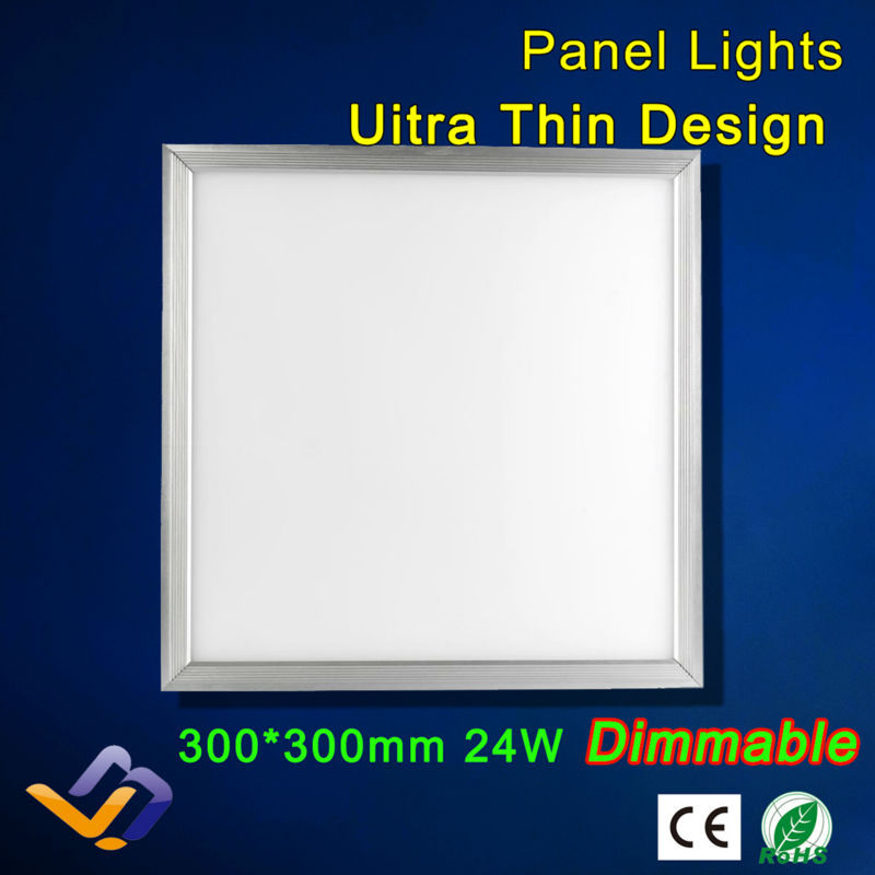 Dimmable 24W LED Panel Light 300*300 AC85-265V Warm White Cool White For Parlour kitchen bathroom corridor celling lamp(China (Mainland))