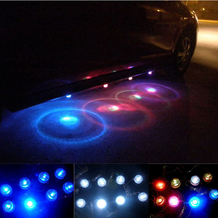 2015 Direct Selling Door Lights Toyota Camping New 2 Group Waterproof Multi-colors Decoration Atmosphere Car LED Light Lucky(China (Mainland))