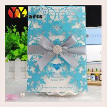 Custom flower wedding invitation card 50sets/lot Laser cut personal wedding invitation card fast shipping (China (Mainland))