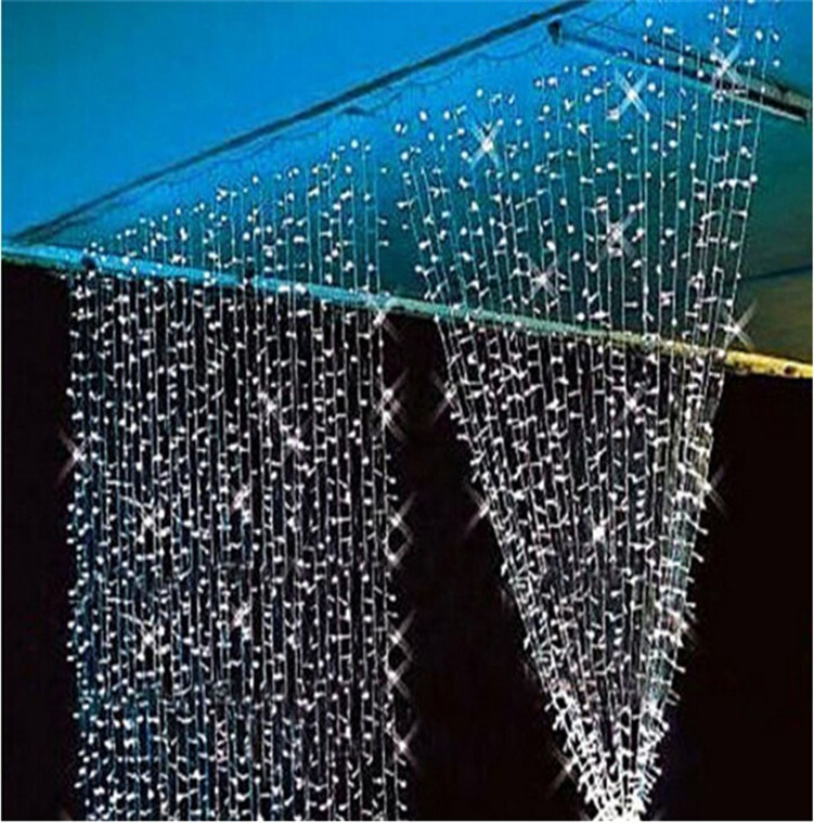 3M*3M 300 LEDs Icicle Light String Fairy Curtain Wedding Garlands Strip Lights Outdoor Home Party Christmas Xmas Decoration(China (Mainland))