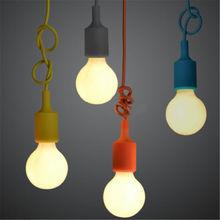 Colorful Silicone Lamp Holder base E27 Bulb Loft Indoor Lighting for Cafe Shop Decor DIY Edison base(China (Mainland))