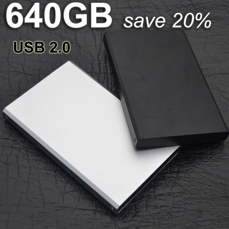 2015 Brand New 24hour delivery external hdd portable hard disk drive disque dur externe USB 2.0 640gb hd externo Hot selling(China (Mainland))