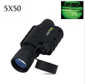 Gen1 multifunctional night vision 5 times monocular infrared night vision goggles telescope for hunting scope free