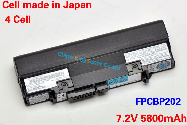 5800mAh Japanese Cell New Original Laptop Battery for Fujitsu LifeBook U2020 U810 U820 FPCBP202 FPCBP201 FMVNB167 FMVNB168 6Cell(China (Mainland))