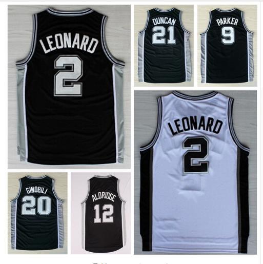 Mens #2 Kawhi Leonard Jersey All Stitched Wholesale Cheap #12 LaMarcus Aldridge Jersey Basketball Jerseys ropa de baloncesto(China (Mainland))